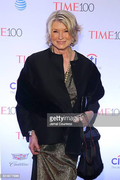 Martha Stewart attends 2016 Time 100 Gala Time's Most Influential People In The World Cocktails at Jazz At Lincoln Center at the Times Warner Center...