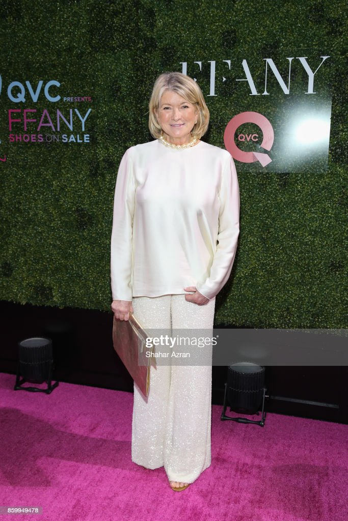 Martha Stewart attends 2017 FFANY Shoes On Sale Gala on October 10, 2017 in New York City.