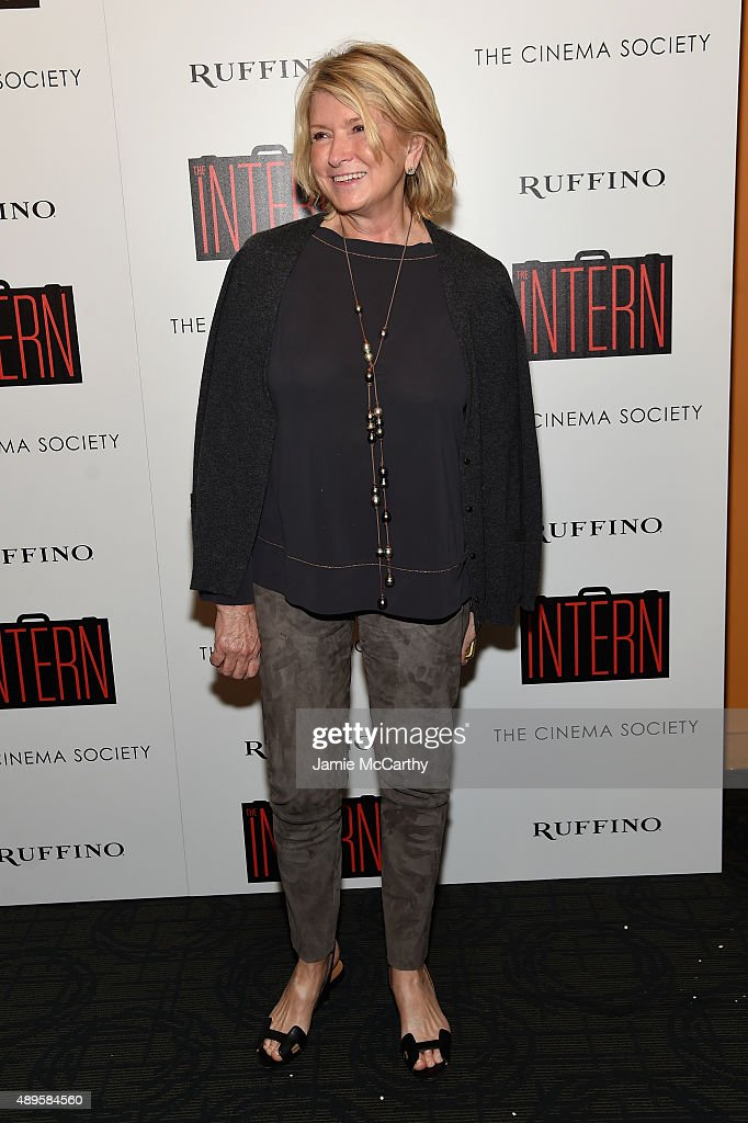 Martha Stewart attends a screening of Warner Bros. Pictures 'The Intern' hosted by The Cinema Society And Ruffino on September 22, 2015 in New York City.