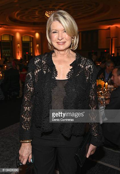 Martha Stewart attends a Tribute Dinner Honoring Jonathan Waxman Rob Sands and Richard Sands With Master Of Ceremonies Tom Colicchio Presented By...