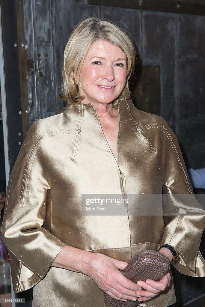 Martha Stewart attends Ballroom Marfa 10th Year Celebration at Center 548 on April 8, 2013 in New York City.