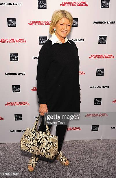 Martha Stewart attends 'Fashion Lives' book launch at Saks Fifth Avenue on April 20 2015 in New York City