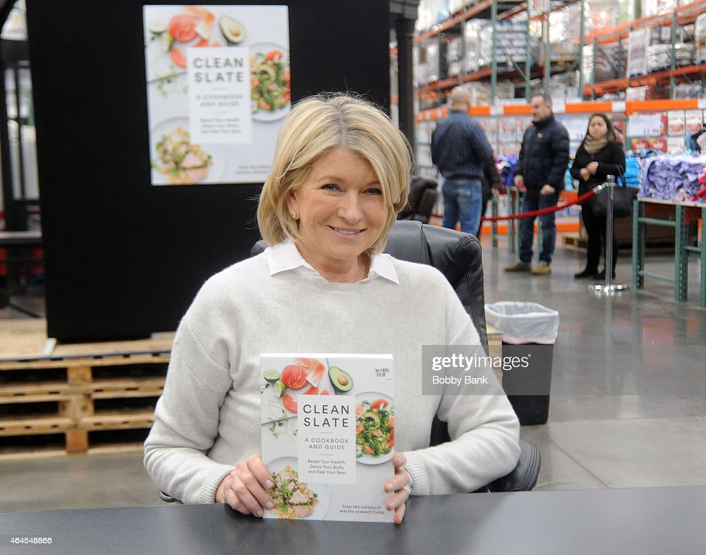 Martha Stewart attends her book signing for 'Clean Slate A Cookbook and Guide' at Costco Wholesale on February 26 2015 in Bridgewater New Jersey