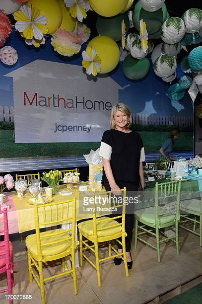 Martha Stewart attends jcpenney the launch of its new Home department featuring exclusive designer collections by Martha Stewart Jonathan Adler Sir...