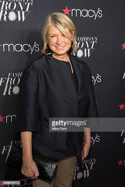 Martha Stewart attends Macy's Presents Fashion's Front Row during Spring 2016 New York Fashion Week at The Theater at Madison Square Garden on...