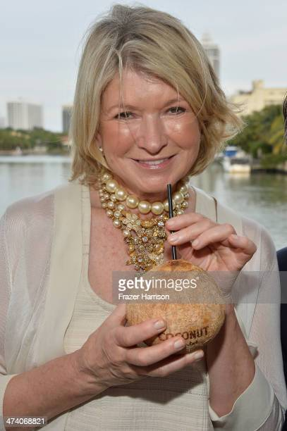 Martha Stewart attends Martha Stewart Celebrates South Beach Wine and Food Festival with DuJour Magazine's Jason Binn and Lee Brian Schrager at The...