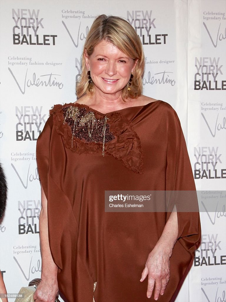 Martha Stewart attends the 2012 New York City Ballet fall gala at David H. Koch Theater, Lincoln Center on September 20, 2012 in New York City.