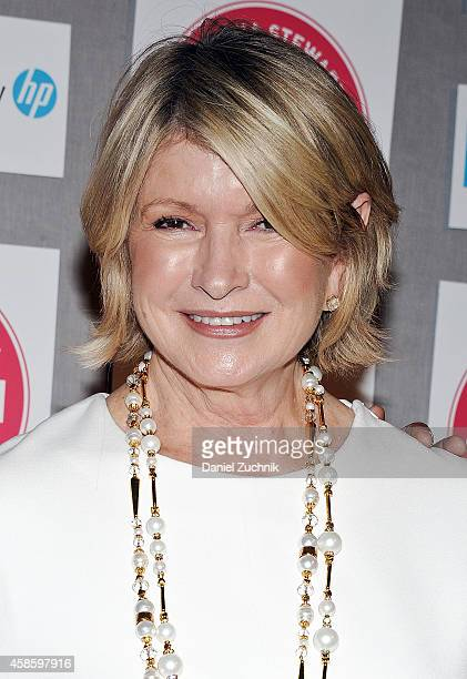 Martha Stewart attends the 2014 American Made Program Kickoff Cocktail Party at Martha Stewart Living Omnimedia Headquarters on November 7 2014 in...
