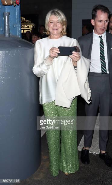 Martha Stewart attends the 2017 Hudson River Park gala at Hudson River Park's Pier 62 on October 12 2017 in New York City