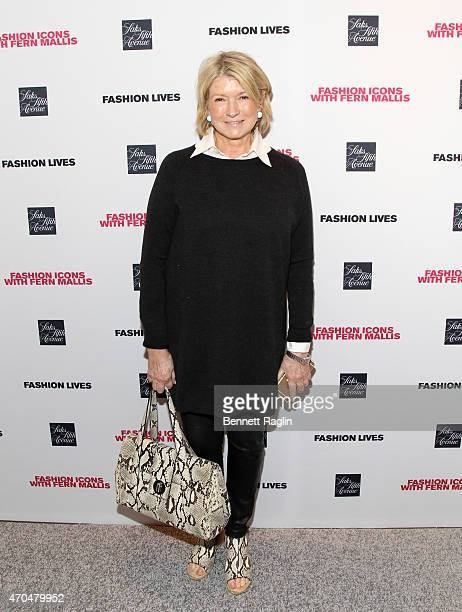 Martha Stewart attends the Fashion Lives Book Launch at Saks Fifth Avenue on April 20 2015 in New York City