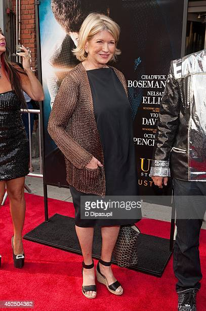 Martha Stewart attends the 'Get On Up' premiere at The Apollo Theater on July 21 2014 in New York City