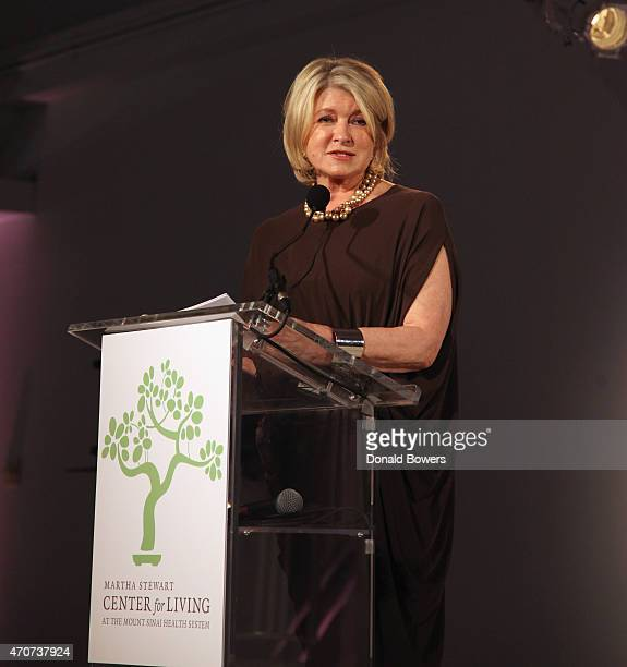 Martha Stewart attends The Martha Stewart Center for Living 2015 Gala at StarrettLehigh Building on April 22 2015 in New York City
