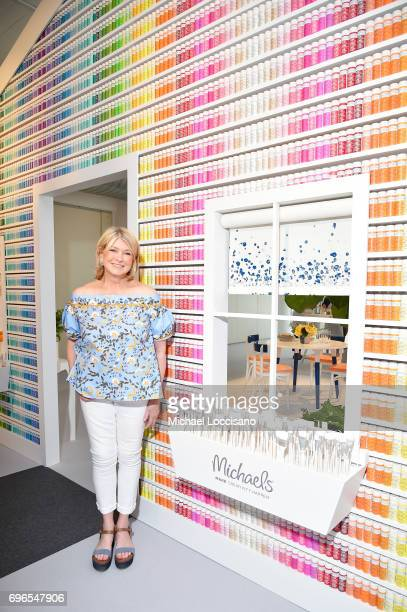 Martha Stewart attends the Michaels and Martha Stewart Experiential Craft Paint Launch Event at Hudson Studios on June 15 2017 in New York City