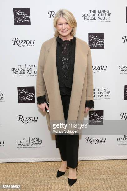 Martha Stewart attends the SAKS FIFTH AVENUE and Martha Stewart Celebrations of the release of 'The Seaside House Living On The Water' at Saks Fifth...