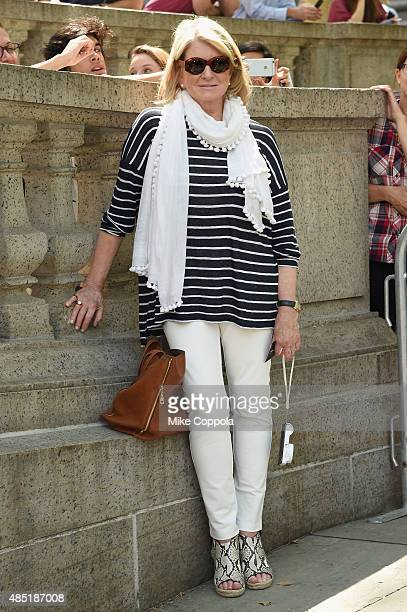 Martha Stewart attends the Tommy Hilfiger and Rafael Nadal Launch Global Brand Ambassadorship at Bryant Park on August 25 2015 in New York City