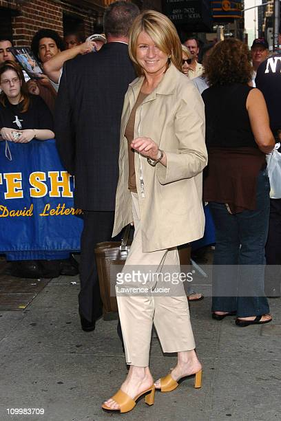 Martha Stewart during Martha Stewart Appears Outside The Late Show with David Letterman September 19 2005 at Ed Sullivan Theater in New York City New...