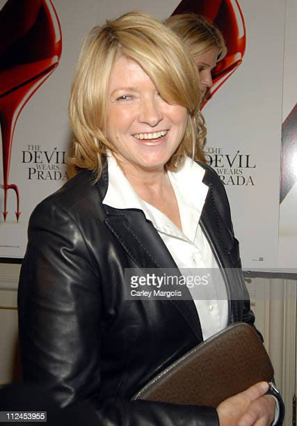 Martha Stewart during 'The Devil Wears Prada' A Dinner and Private Auction Hosted by the St Regis Hotel May 23 2006 at St Regis Hotel in New York...