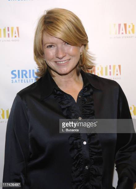 Martha Stewart **Exclusive Coverage** during Sirius Satellite Radio Introduces Hosts of Martha Stewart Channel November 16 2005 at Sirius Satellite...