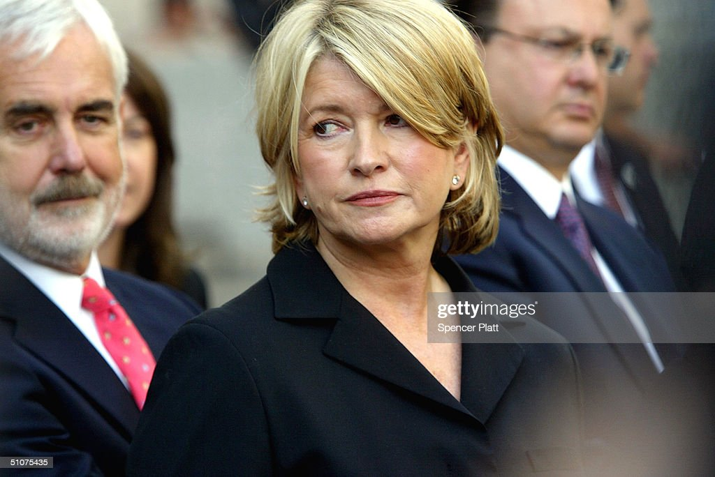 Martha Stewart exits court after the sentencing phase of her conviction on a stock-trading scandal July 16, 2004 in New York City. Stewart was sentenced to five months in federal prison, 2 years probation and 30,000 dollars in fines.