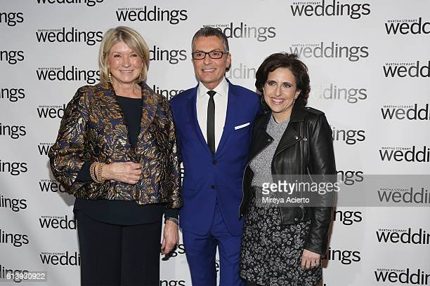 Martha Stewart fashion designer Randy Fenoli and editorial director for Martha Stewart Weddings Darcy Miller attend the Martha Stewart Weddings...