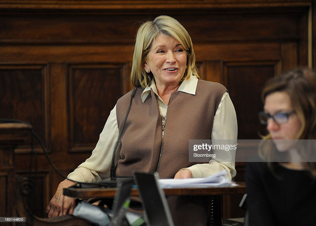 Martha Stewart, founder of Martha Stewart Living Omnimedia Inc., testifies at State Supreme court in New York, U.S., on Tuesday, March 5, 2013. Stewart took the stand in a Manhattan courtroom today as Macy's Inc. continues its fight to persuade a New York state judge to block parts of her company's agreement with J.C. Penney Co. Photographer: David Handschuh/Pool via Bloomberg