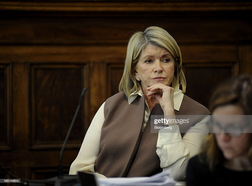 Martha Stewart, founder of Martha Stewart Living Omnimedia Inc., listens to a question while testifying at State Supreme court in New York, U.S., on Tuesday, March 5, 2013. Stewart took the stand in a Manhattan courtroom today as Macy's Inc. continues its fight to persuade a New York state judge to block parts of her company's agreement with J.C. Penney Co. Photographer: David Handschuh/Pool via Bloomberg