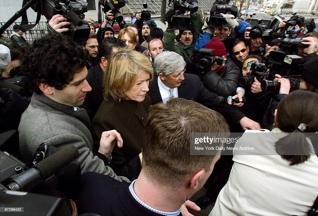 Martha Stewart, freed from prison earlier this month and now serving five months of house arrest, leaves Manhattan Federal Court, where her attorneys are trying to convince a three-judge appeals panel to overturn her conviction for lying to the government.