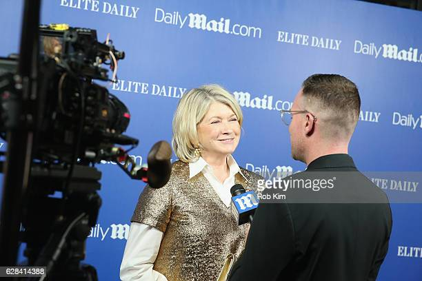 Martha Stewart is interviewed during the DailyMailcom Elite Daily Holiday Party with Jason Derulo at Vandal on December 7 2016 in New York City