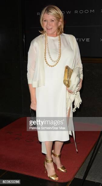 Martha Stewart is seen on July 25 2017 in New York City