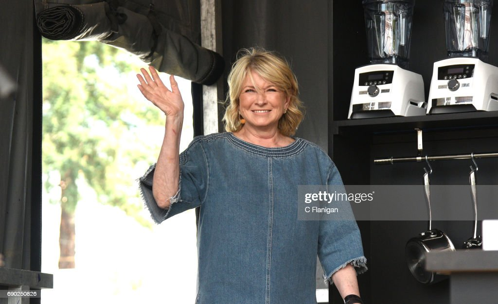 Martha Stewart is seen on the culinary stage during the 2017 BottleRock Napa Festival on May 26, 2017 in Napa, California.