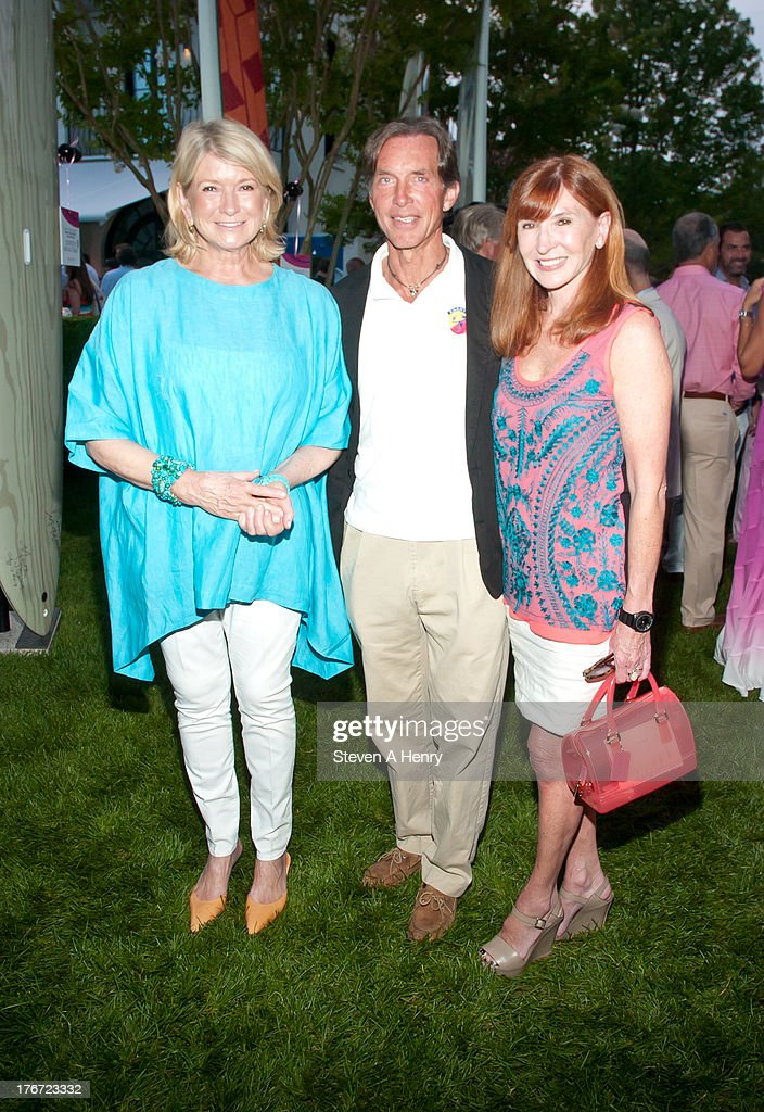<a gi-track='captionPersonalityLinkClicked' href=/galleries/search?phrase=Martha+Stewart&family=editorial&specificpeople=202905 ng-click='$event.stopPropagation()'>Martha Stewart</a>, Kim Taipale and Nicole Miller attend the 2nd annual Paddle & Party for Pink on August 17, 2013 in Sag Harbor, New York.