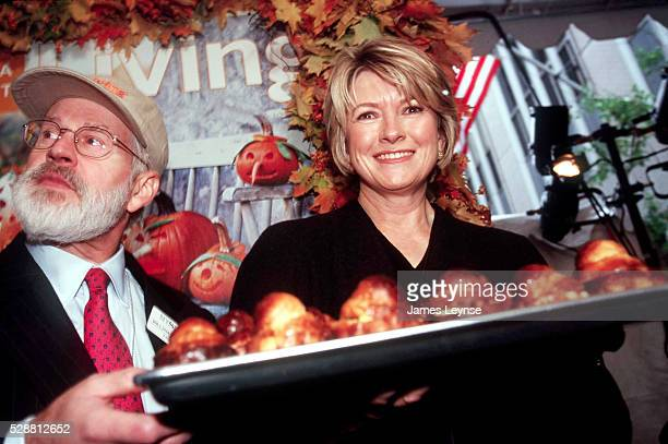 Martha Stewart and William Johnston at the New York Stock Exchange