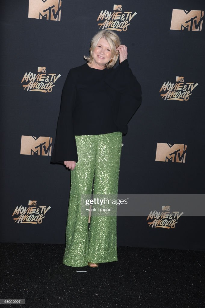 Martha Stewart posing in the press room during the 2017 MTV Movie And TV Awards at The Shrine Auditorium