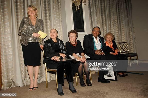 Martha Stewart Rita Gam Ruth Finley Dean Hutchins and Dr Ruth Gruber attend MARTHA STEWART CENTER for LIVING at MOUNT SINAI on November 5 2008