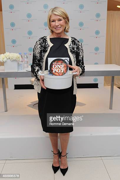 Martha Stewart signs copies of her new cookbook 'One Pot' at Macy's Herald Square on September 23 2014 in New York City