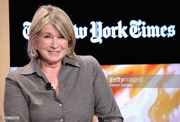 Martha Stewart speaks onstage at The Future According to Martha panel during The New York Times Food For Tomorrow Conference 2016 on September 28...