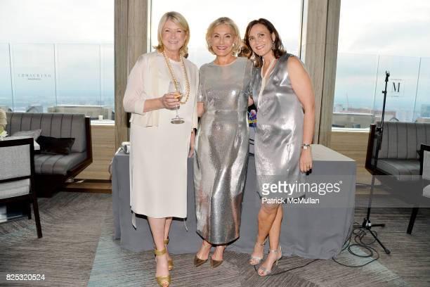 Martha Stewart Susan Magrino and Allyn Magrino at Magrino PR 25th Anniversary at Bar SixtyFive at Rainbow Room on July 25 2017 in New York City