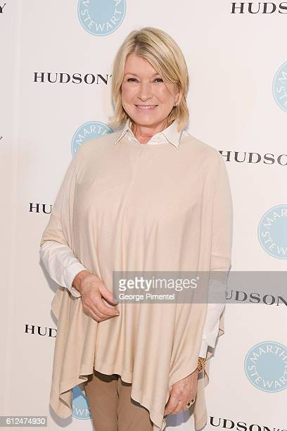 Martha Stewart Visits at The Hudson's Bay To Celebrate The Launch Of Martha Stewart Bedding on October 4 2016 in Toronto Canada