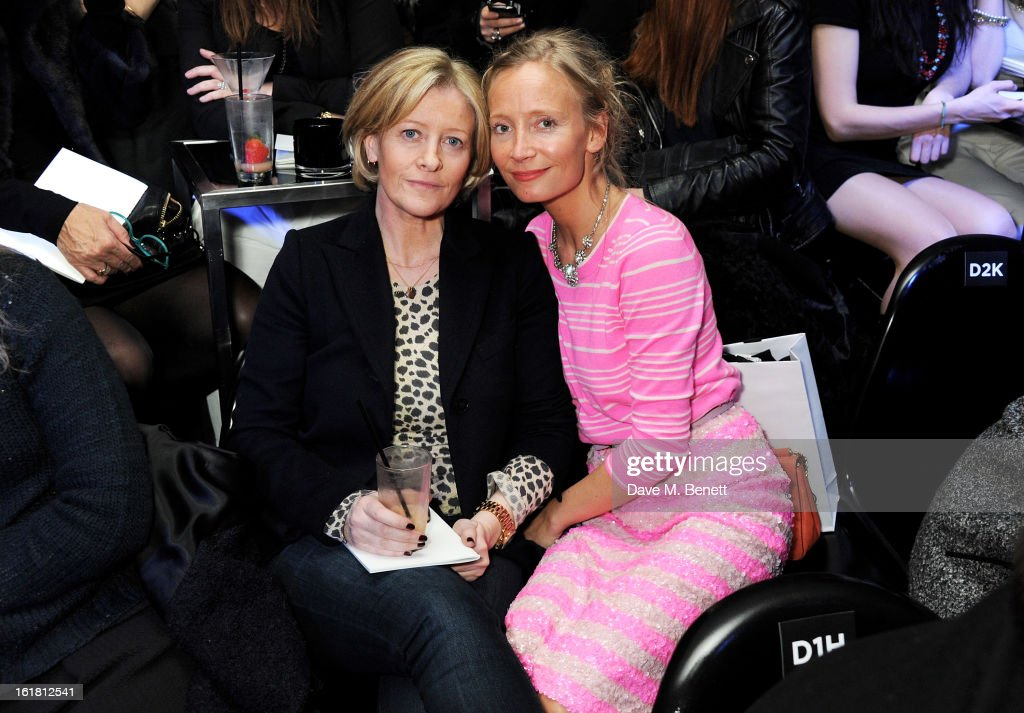 Martha Ward (R) and guest attend the 2013 International Woolmark Prize Final at ME London on February 16, 2013 in London, England.