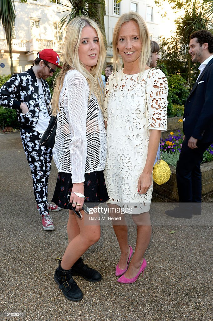 <a gi-track='captionPersonalityLinkClicked' href=/galleries/search?phrase=Martha+Ward&family=editorial&specificpeople=4263200 ng-click='$event.stopPropagation()'>Martha Ward</a> (R) and guest attend the Club Monaco Garden Party hosted by Quentin Jones, Clara Paget and Annie Morris in Eaton Square on July 3, 2014 in London, England.