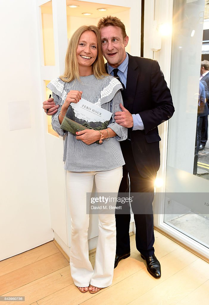 <a gi-track='captionPersonalityLinkClicked' href=/galleries/search?phrase=Martha+Ward&family=editorial&specificpeople=4263200 ng-click='$event.stopPropagation()'>Martha Ward</a> and Jolyon Fenwick attend his exhibition launch party of 'The Zero Hour Panoramas' by Jolyon Fenwick. The exhibition consists of 14 photographic panoramas showcasing, '100 Years on: Views From The Parapet of the Somme', at Sladmore Contemporary on June 30, 2016 in London, England.