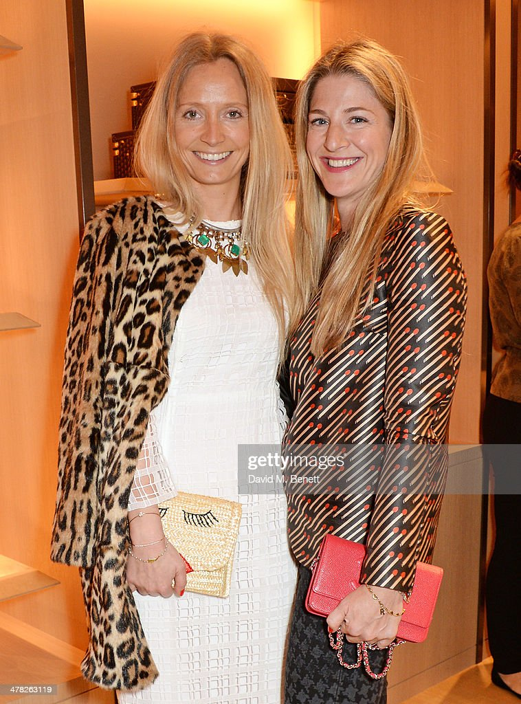 Martha Ward (L) and Rebecca Marks attend the Moynat London boutique opening on March 12, 2014 in London, England.