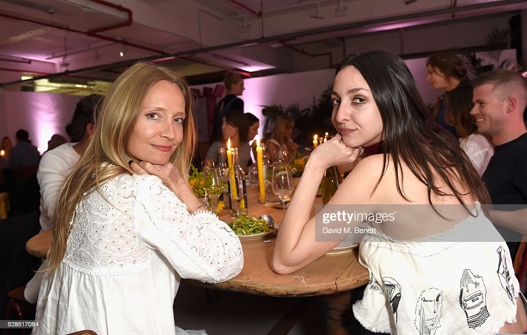 Martha Ward and Tish Weinstock attend a private dinner hosted by M.i.h Jeans to celebrate their 10th anniversary at Brewer Street Car Park on May 5, 2016 in London, England.