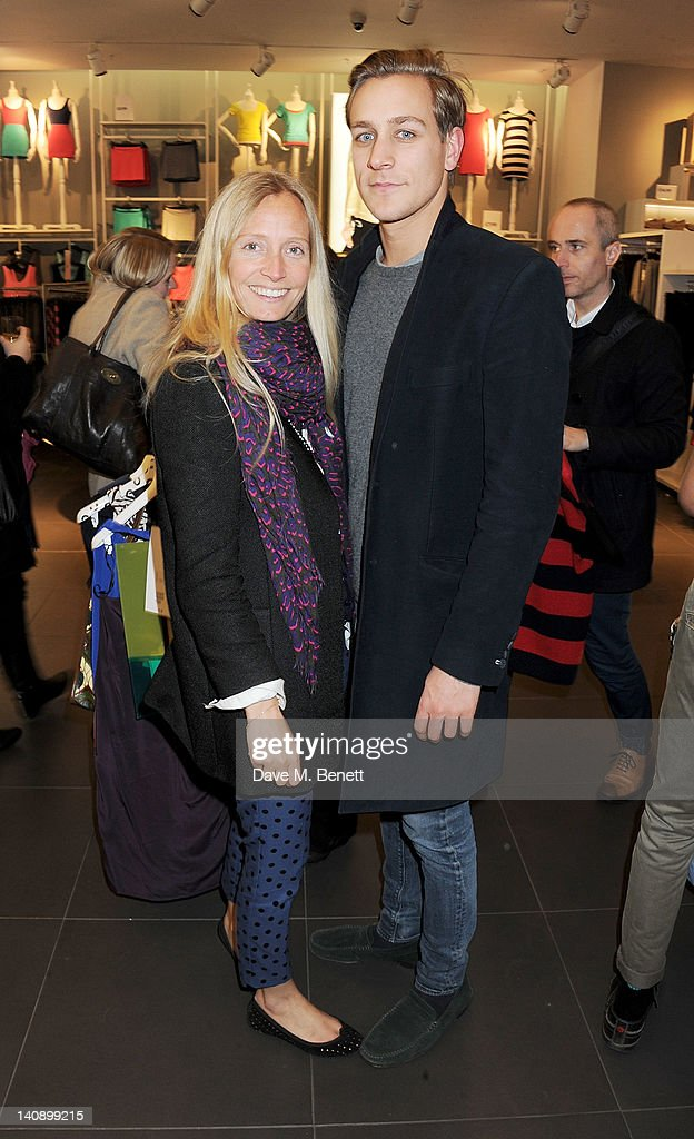 Martha Ward (L) and Toby Knott attend the launch of Italian fashion house Marni's collection for H&M at H&M Regent Street on March 7, 2012 in London, England.