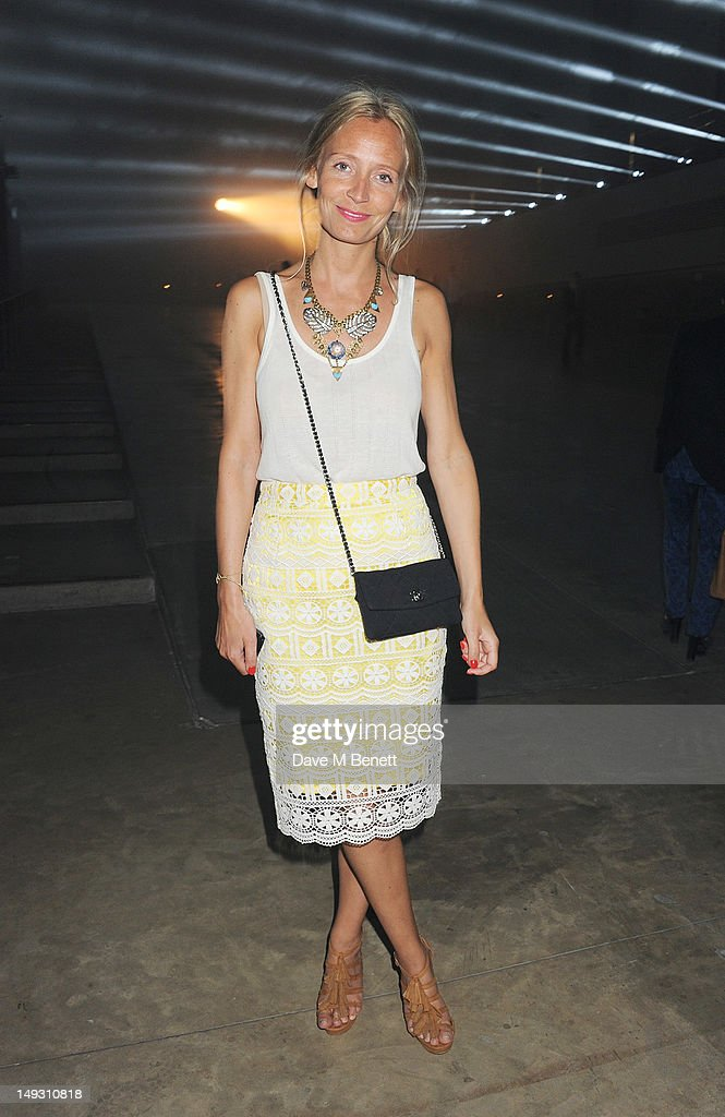 Martha Ward arrives at the Warner Music Group Pre-Olympics Party in the Southern Tanks Gallery at the Tate Modern on July 26, 2012 in London, England.
