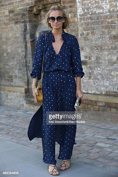 Martha Ward at the Jonathan Saunders fashion show on September 20 2015 in London England