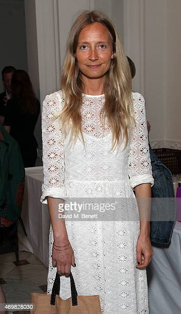 Martha Ward attends a private view of 'New Work' by American artist Adam Pendleton at Pace London on April 15 2015 in London England
