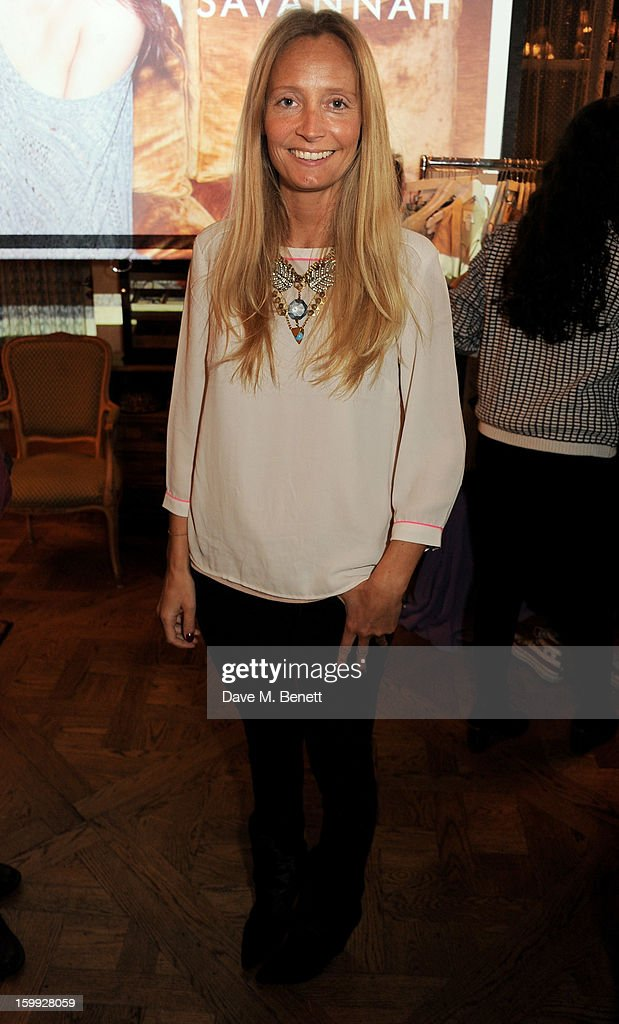 Martha Ward attends afternoon tea hosted by Savannah Miller to celebrate the launch of the Savannah Spring/Summer 2013 collection at Mari Vanna on January 23, 2013 in London, England.