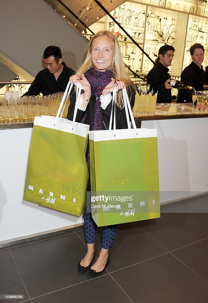 Martha Ward attends the launch of Italian fashion house Marni's collection for H&M at H&M Regent Street on March 7, 2012 in London, England.