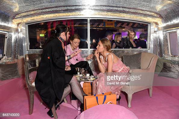 Martha Ward visits the fortune teller at LondonÕs Fabulous Fund Fair hosted by Natalia Vodianova and Karlie Kloss in support of The Naked Heart...